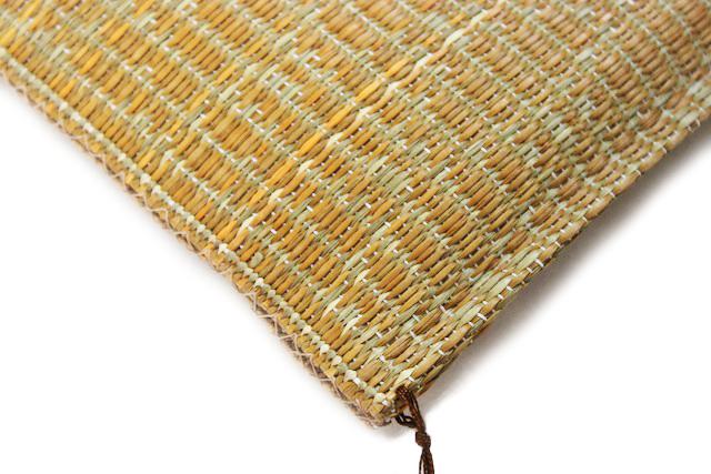 い草座布団 国産 カドのアップ画像