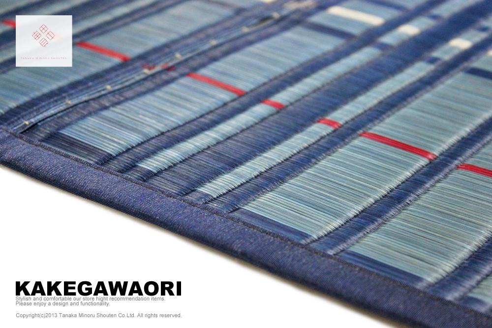 掛川織り 格子 国産 メイン画像