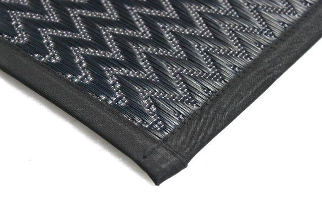 国産 い草ラグ 三重織り 黒・ブラック